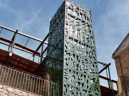 Habillage – Ascenseur de Grimaud