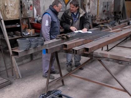 Prestations shm m tallerie for Fabriquer porte style atelier