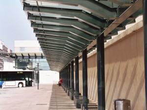 Préau – Ossature métallique – Gare routière de Toulon