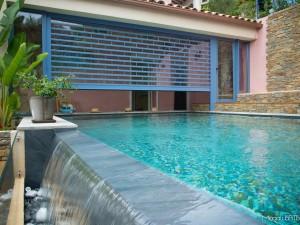 Rideau de piscine – villa à Carqueiranne