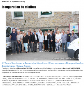 16.09.15_Inauguration Minibus Pierrefeu